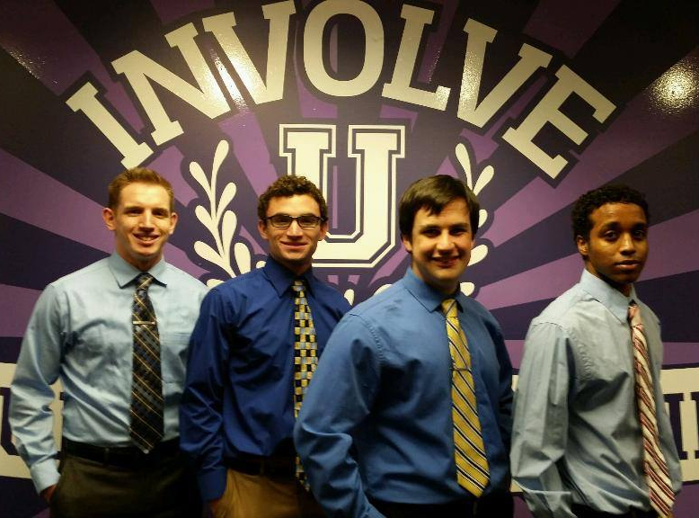 EWB Officers, from left, Jordan ZumBerge, Michael Seffren, Sam Stoffels and Yoseph Ukbazghi.