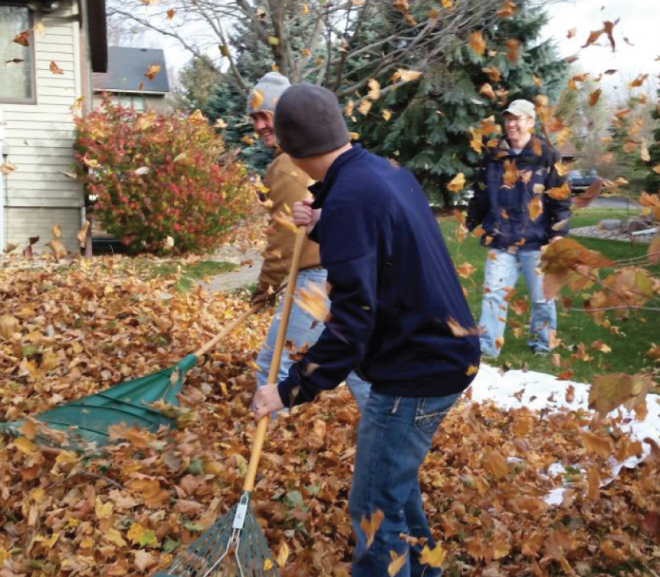 UPDATE: Student Volunteers Help Those In Need Rake The Town