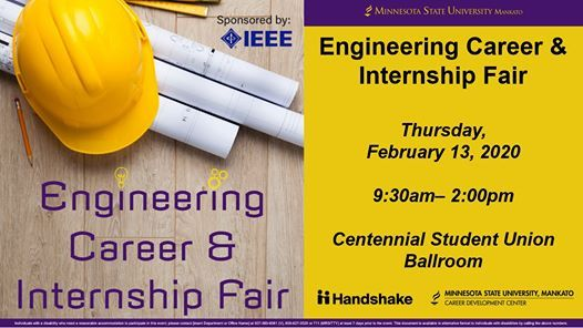 2020 Engineering Career and  Internship Fair Sponsored by IEEE