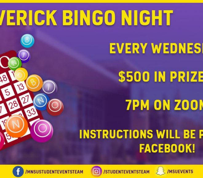 Zoom Caricatures and Bingo Nights Added To Student Events Team Online Activities
