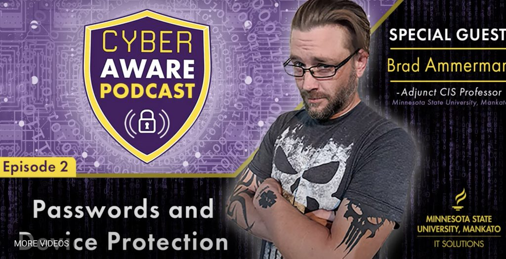 Photo of Brad Ammerman as this week's featured guest on the CyberAware Podcast.