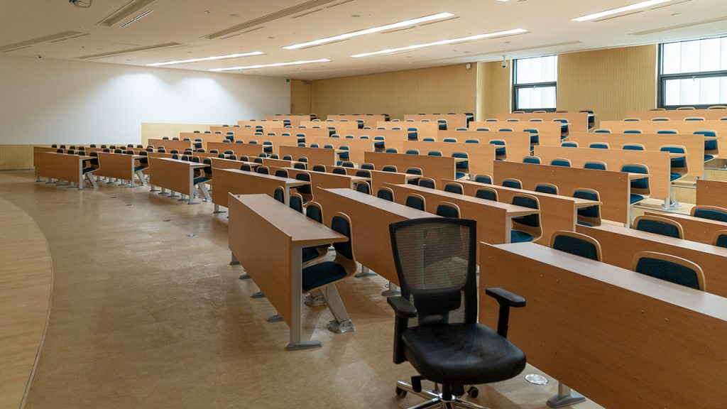 Empty lecture classroom