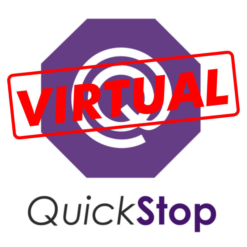 Image showing logo for Virtual Quickstop at the Career Development Center at Minnesota State University, Mankato