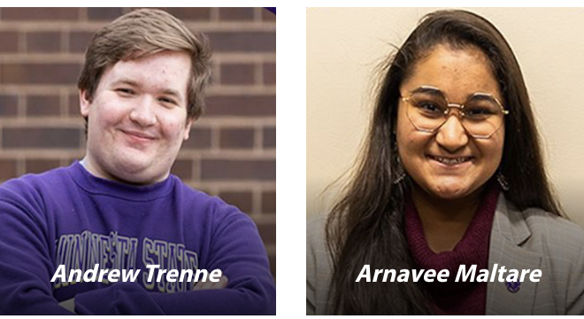 Trenne, Maltare Named to Lead 2020-21 Student Government at Minnesota State Mankato