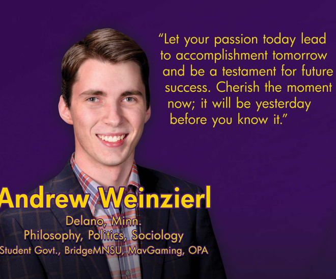 ANDREW WEINZIERL: Committed to Making the College Experience Worthwhile