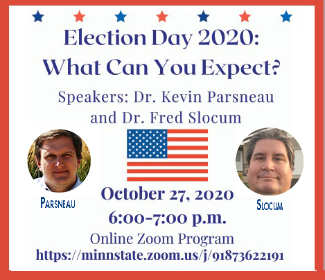 Election Info and Outcomes  Focus of Faculty Virtual Discussion Oct. 27
