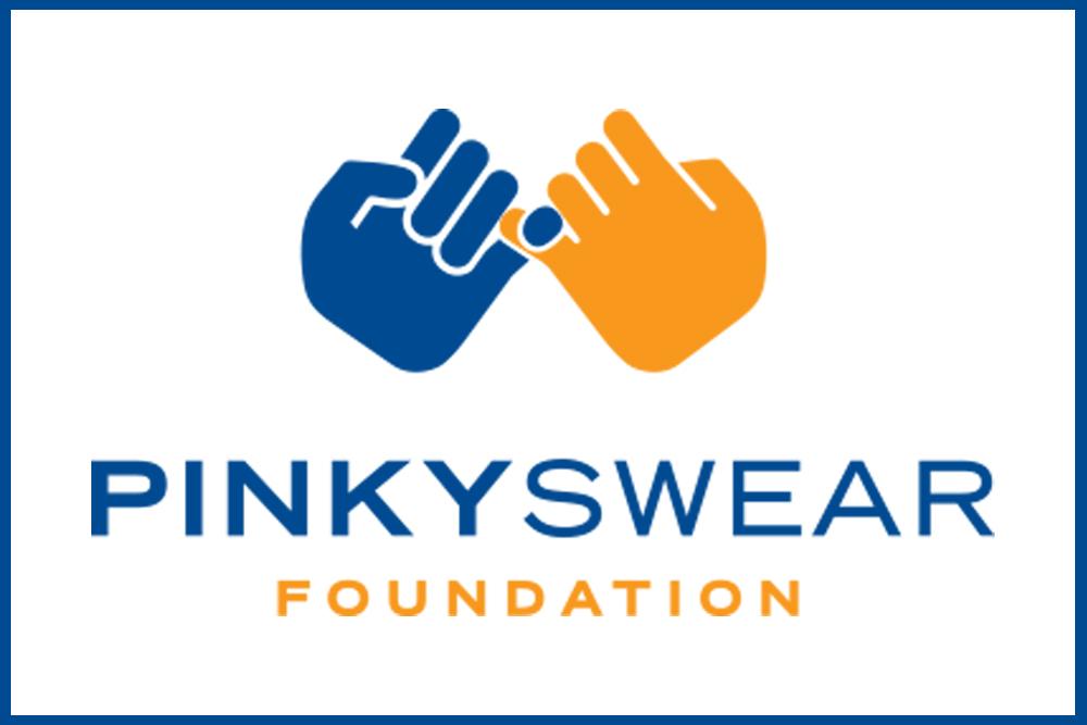 Pinky Swear logo with two hands interlocking pinky fingers.