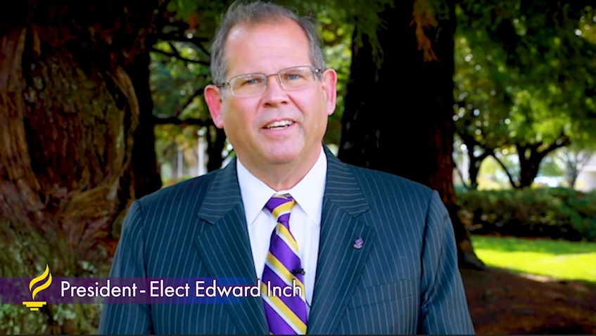 Photo of Dr. Edward inch, named March 17, 2021, as president-elect at Minnesota State University, Mankato.